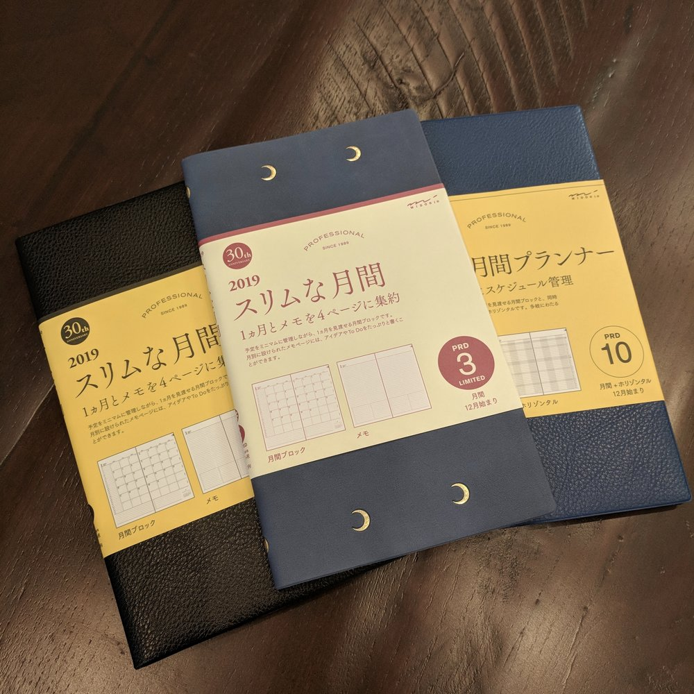 Midori Planners for 2019