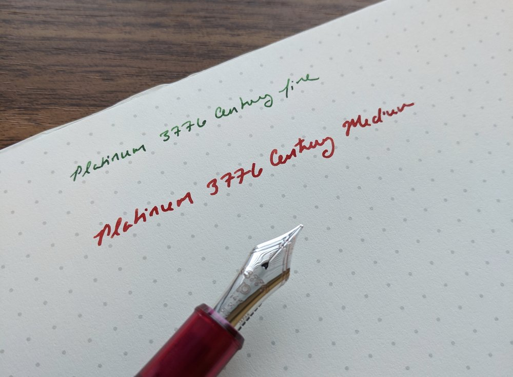Platinum 3776 Medium Nib Writing Sample