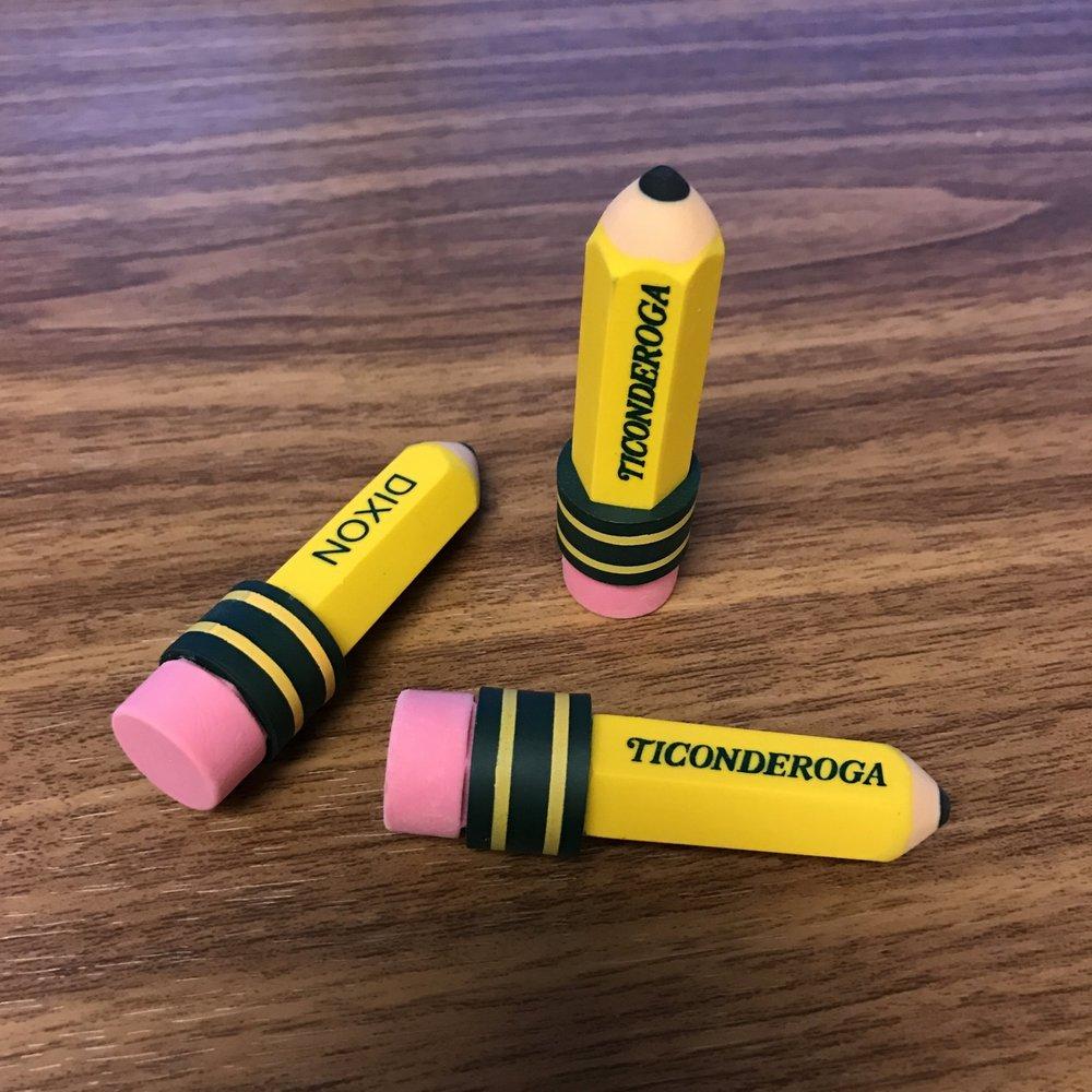 Ticonderoga-Erasers