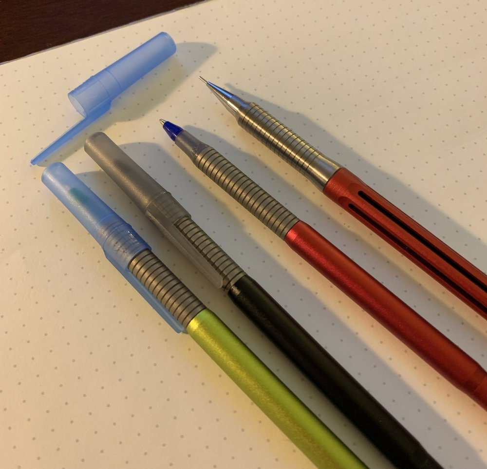 The  Baux Pen 2  - a Bic Cristal related Kickstarter project that I backed, arrive this week. Shown here with the  Spoke Pencil . Look for my thoughts on the blog at some point.