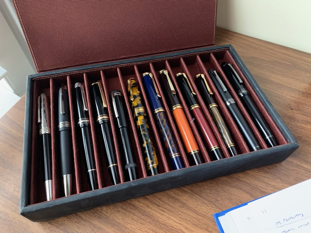 "My 2018 ""Tier One"" Pens: Consolidation of the collection is a work in progress."
