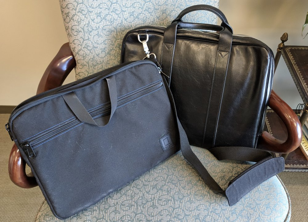 Nock Co Lanier Briefcase and Toffee Briefcase