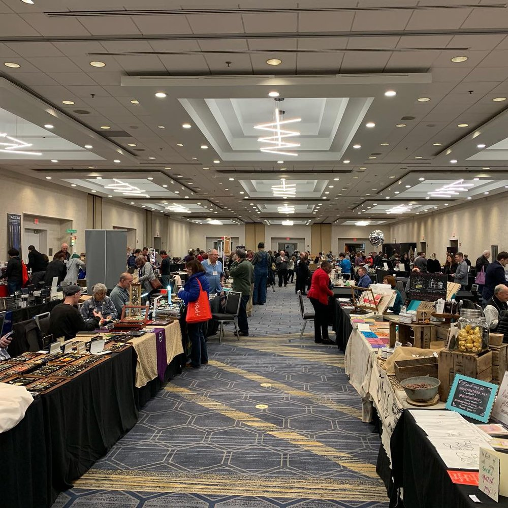 A picture from the back of the ballroom, looking forward, on Sunday at the Baltimore Pen Show.