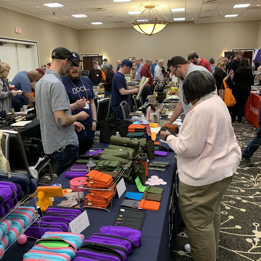 The second ballroom late Saturday afternoon. The Nock Co. table had already sold a bunch of cases!