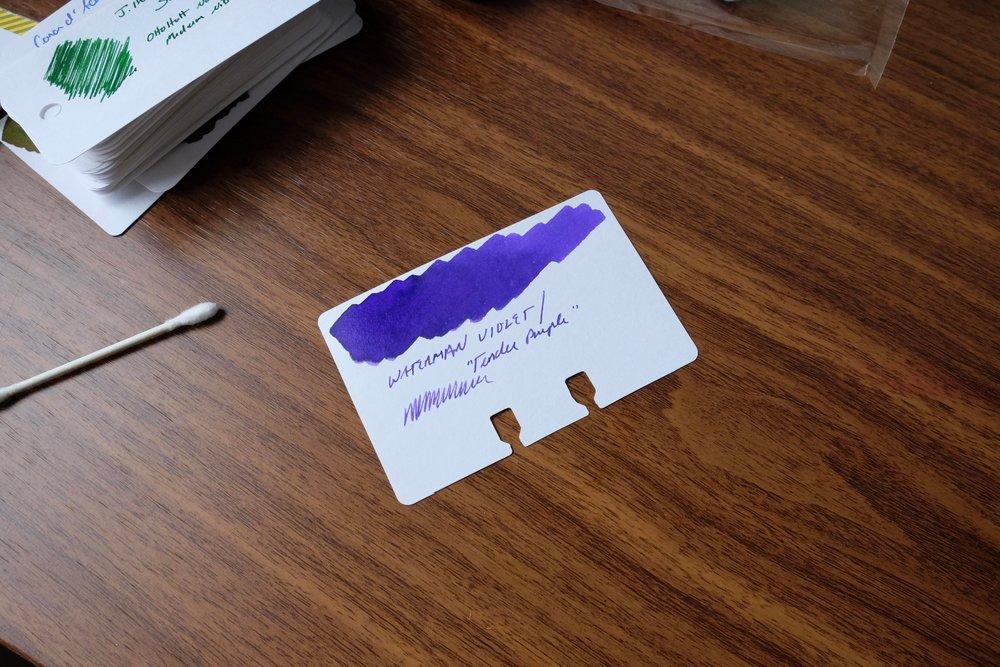 Waterman-Tender-Purple-Ink-Review
