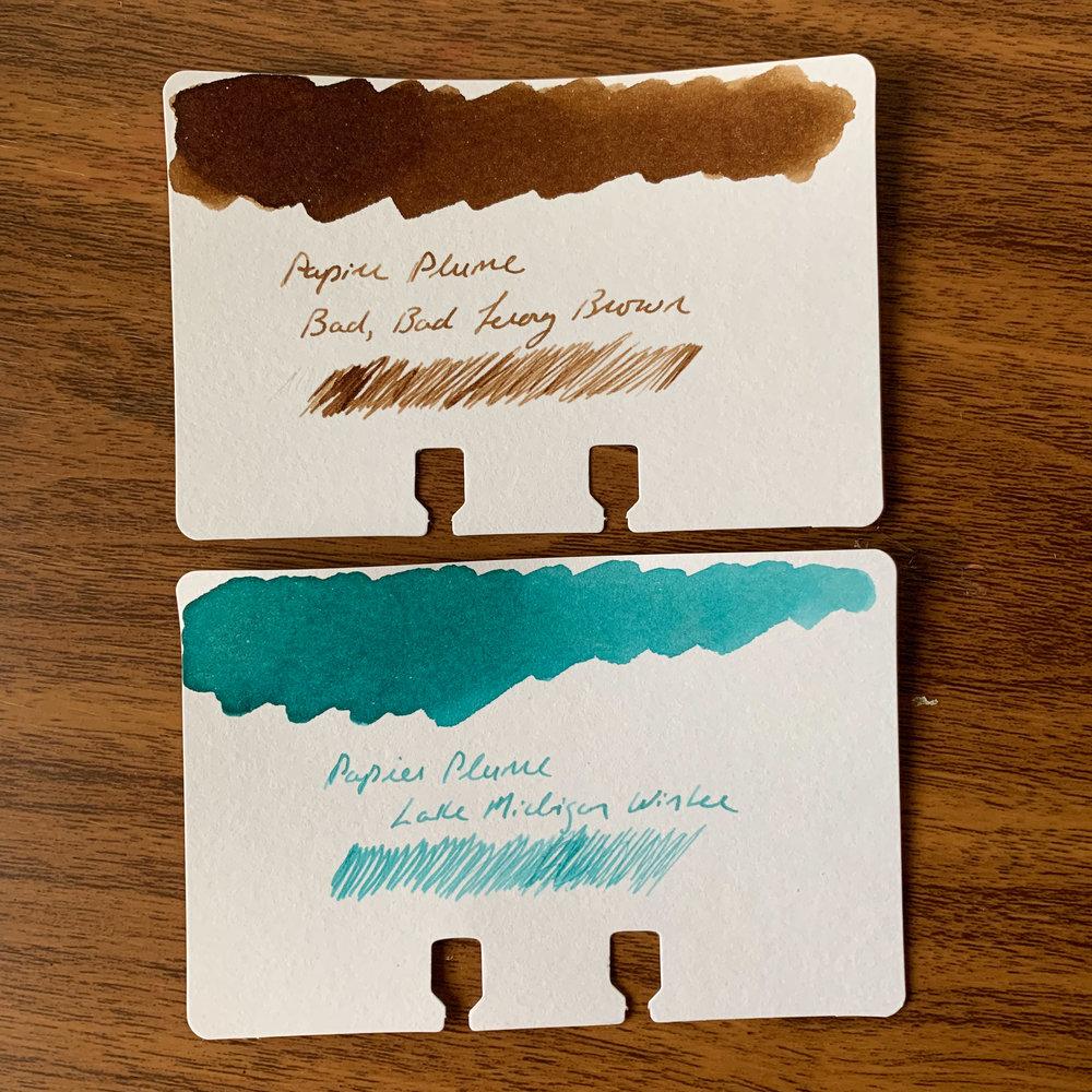 Papier-Plume-Leroy-Brown-Lake-Michigan-Winter-Writing-Sample