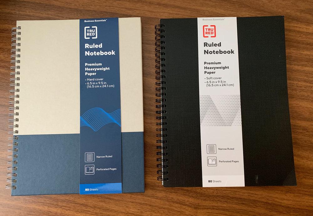 Staples-Tru-Red-Notebooks