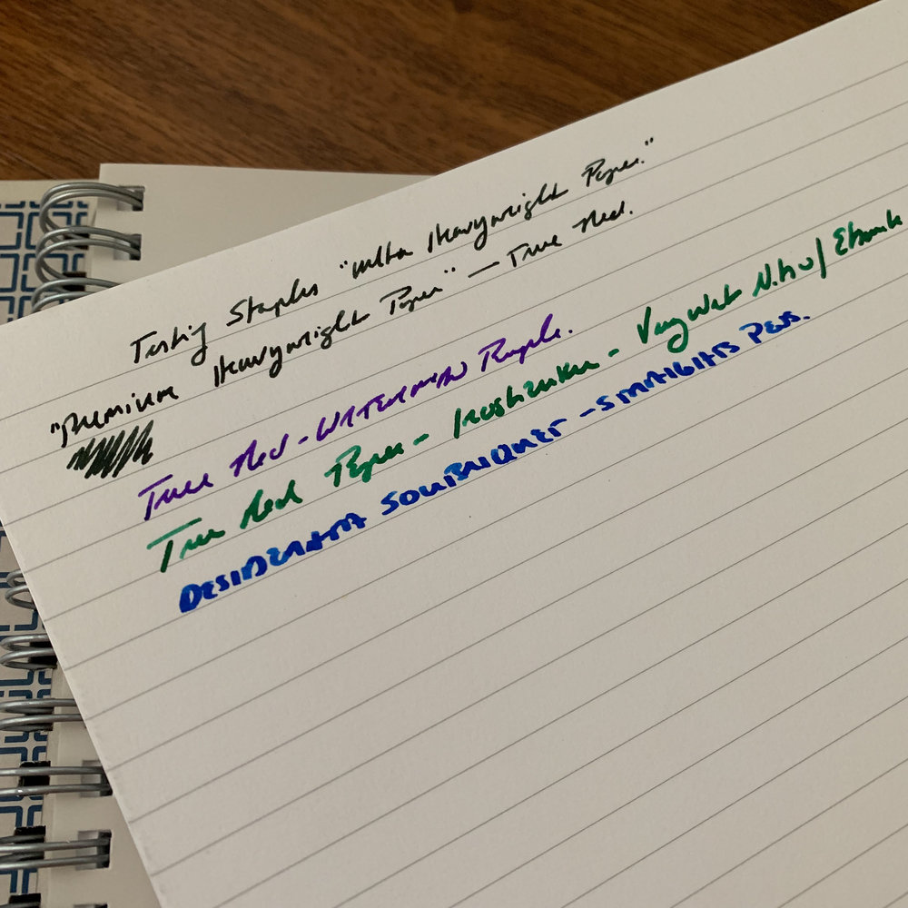 The first notebook I tested (the softcover) performed exceptionally well with fountain pens.