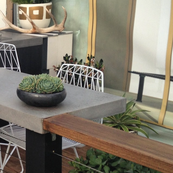 © Adam Robinson Design – Lucy Stool Bend Seating Own World Australian Garden Show Sydney 2014 01