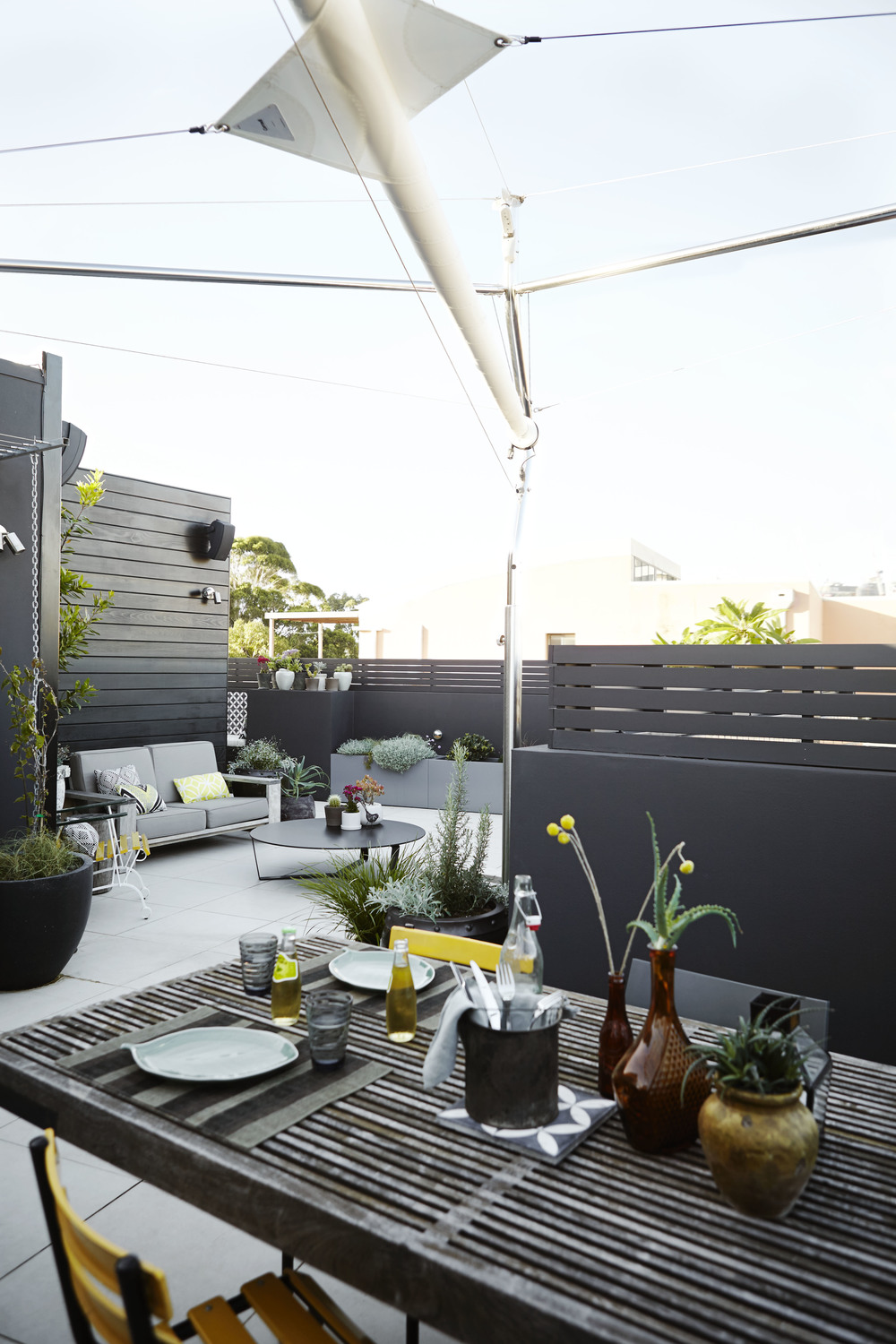 more from the Redfern Rooftop, smaller elements make up the table setting which flows through to a lounge area with bolder items