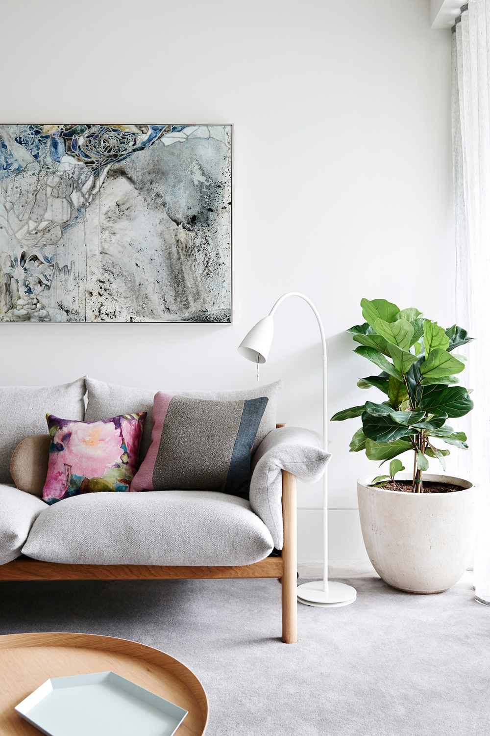 soften a corner with a bold plant. image source voguelivingmagazine.tumblr.com