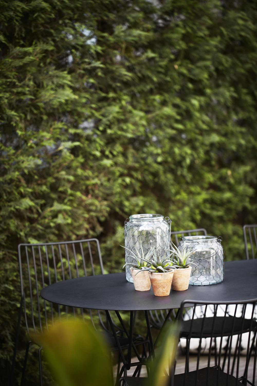 A chic outdoor table top dressing from a recent project
