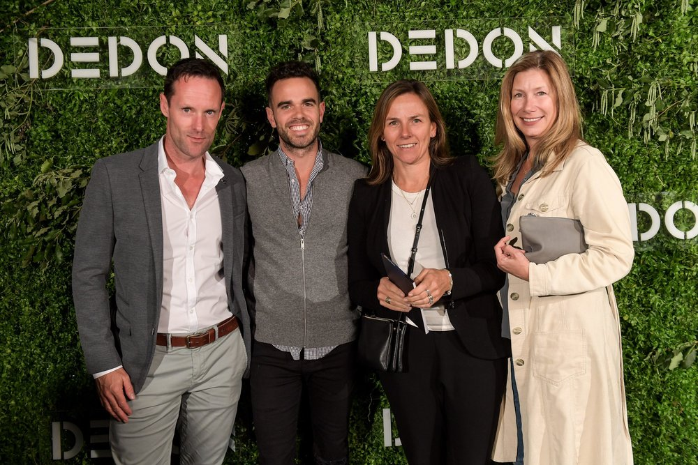 Dean Boone, Adam Robinson, Kate Bell and Lisa Holmes from Kate Bell Design.
