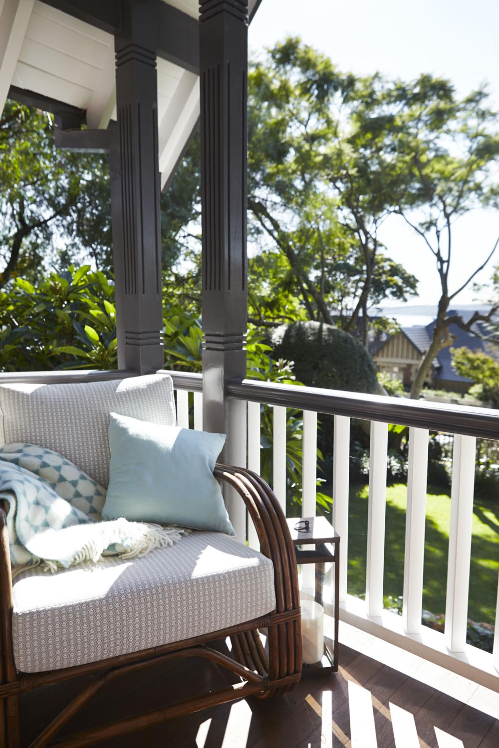 Take time out in this super comfy and traditional chair from our Mosman Balcony Garden project