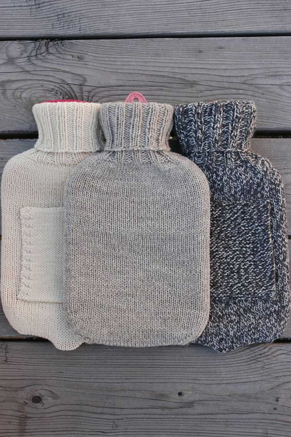 A comfy hot water bottle cover