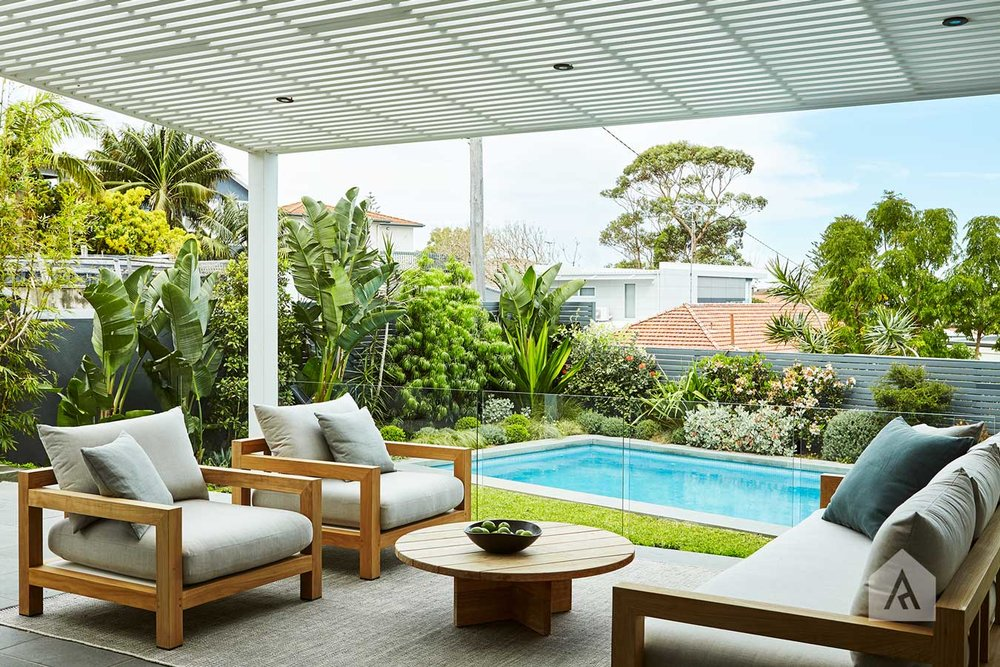 The monochromatic style of our  Coogee Landscape Design project