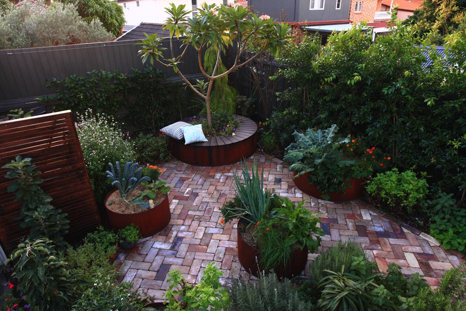 Vegetable beds were incorporated into this ARD designed space in Sydney