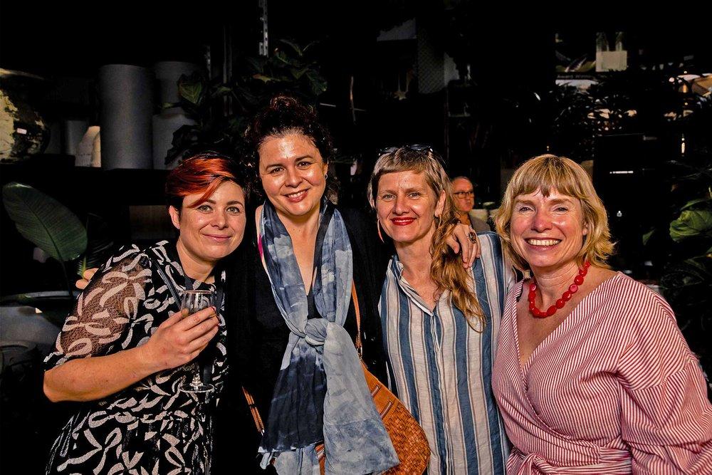 Karen Davis and Pepa Martin from Shibori, Christina McLean and Lynne Testoni