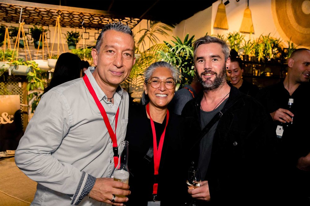 Nick Hadji from ODS, Nadine Bush from Bushtactics and Desmond Stock from Durie Design