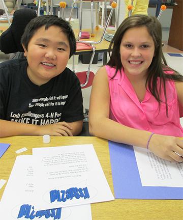 Justin Gorton & Sierra Harper-Beutel (8th Grade Lodi Students)