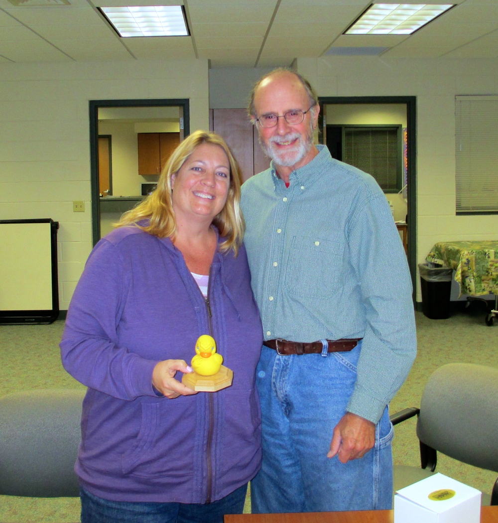 Pictured (left to right): Lucinda Ranney (LCAT Advisory Board Member & Lodi Area Middle School LifeSkills Teacher) & Bill Welch (Friends of the Scenic Lodi Valley)