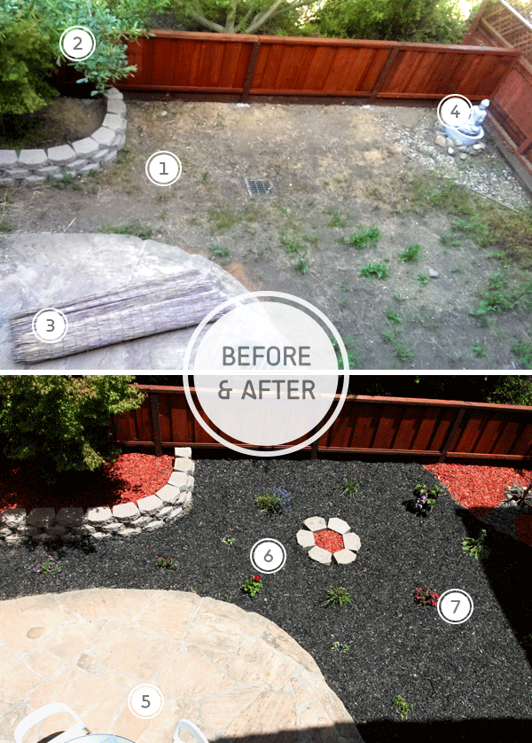 Yard Before & After Staging // Staged4more Home Staging