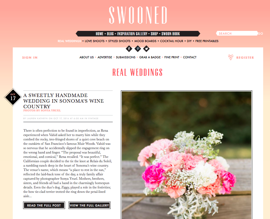 Swooned Wedding Magazine Feature // Staged4more Home Staging & Design