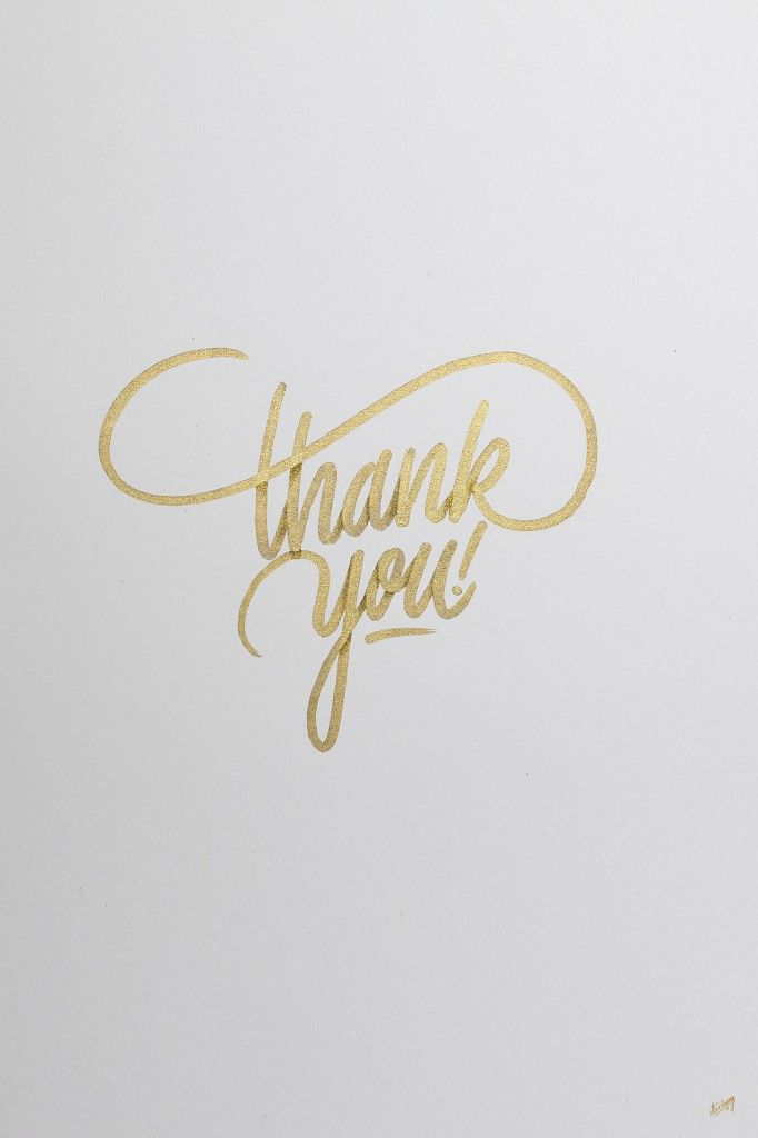 Thank you by The Chic Type Blog