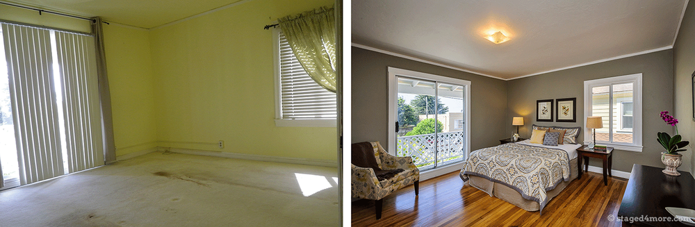 An example of vacant home staging.