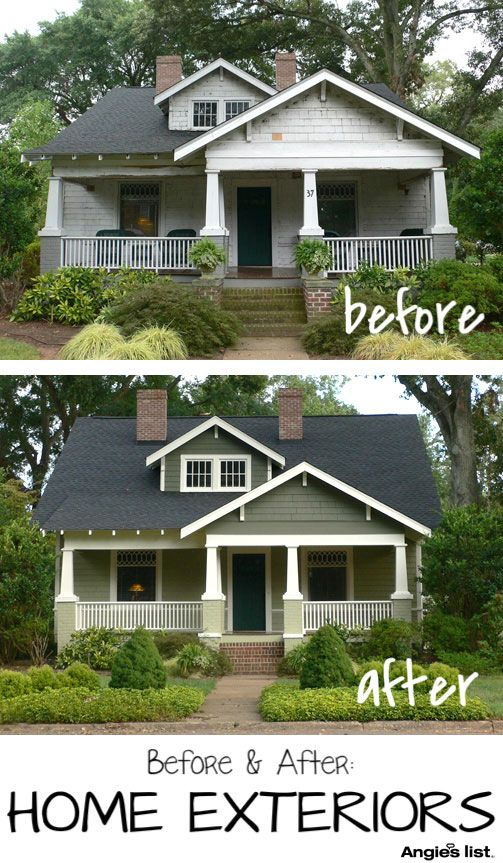 Angie's List | Before & After of Exterior Painting