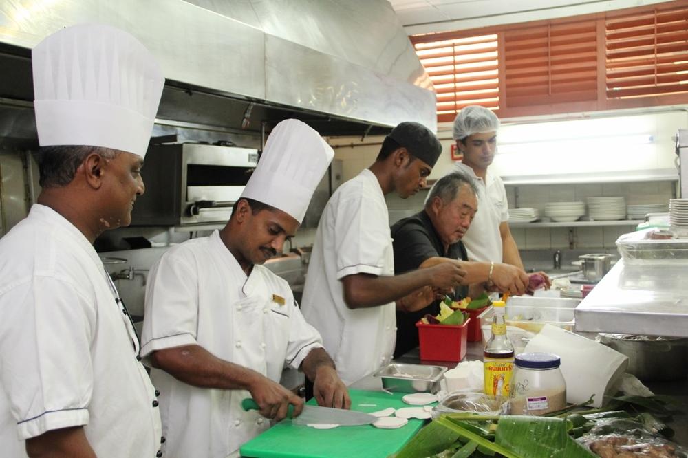 Colin training chefs