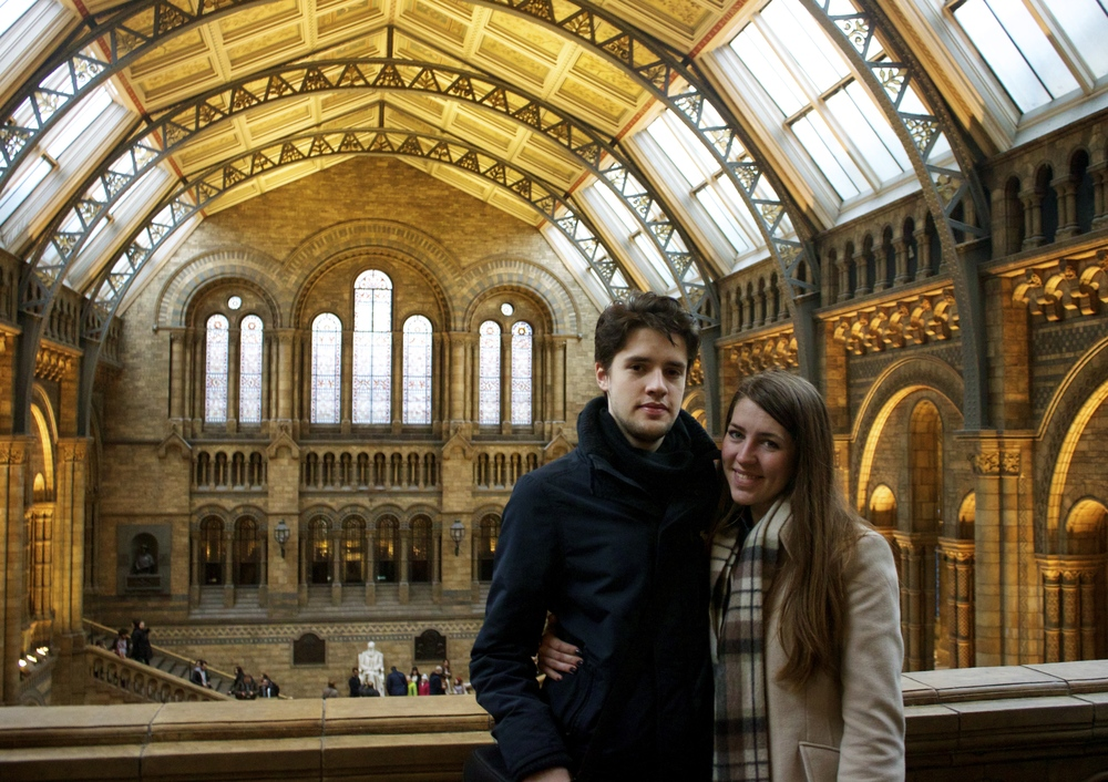 My Sister and I at the Natural History Museum.