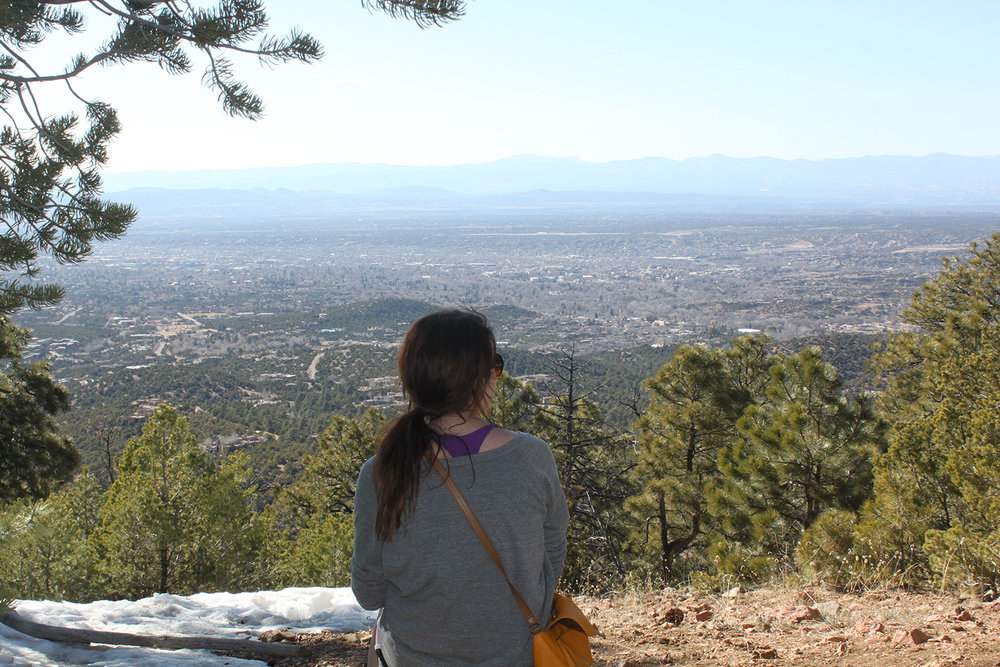 An overlook on one of Santa Fe's many hiking trails.