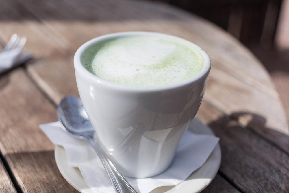 Lavender-honey matcha latte