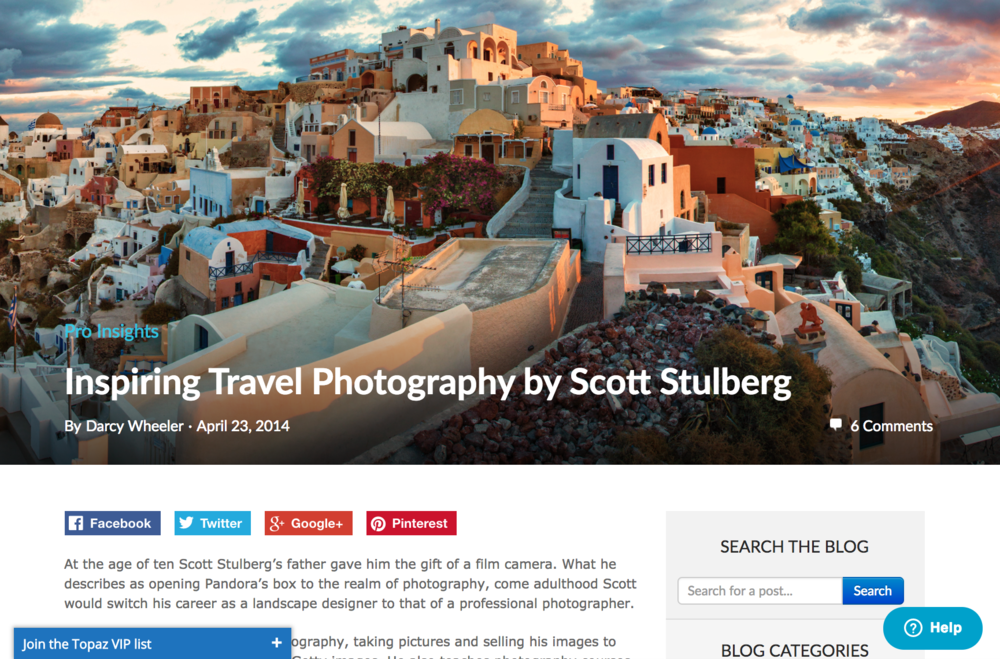 Interview with travel photographer Scott Stulberg