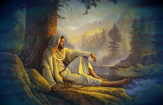 jesus-alone-on-mountain