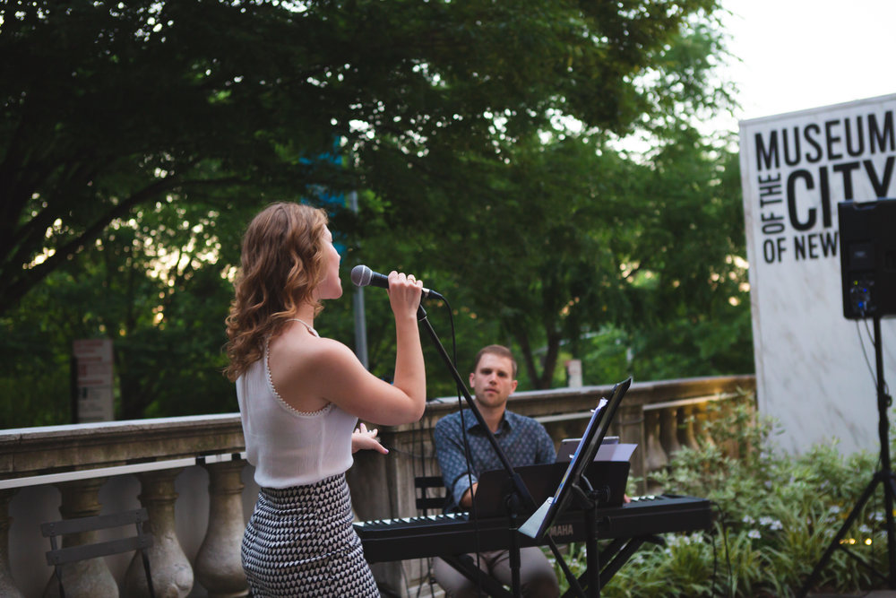 Singing at the Museum of the City of New York July 19, 2018  With Henry Koperski