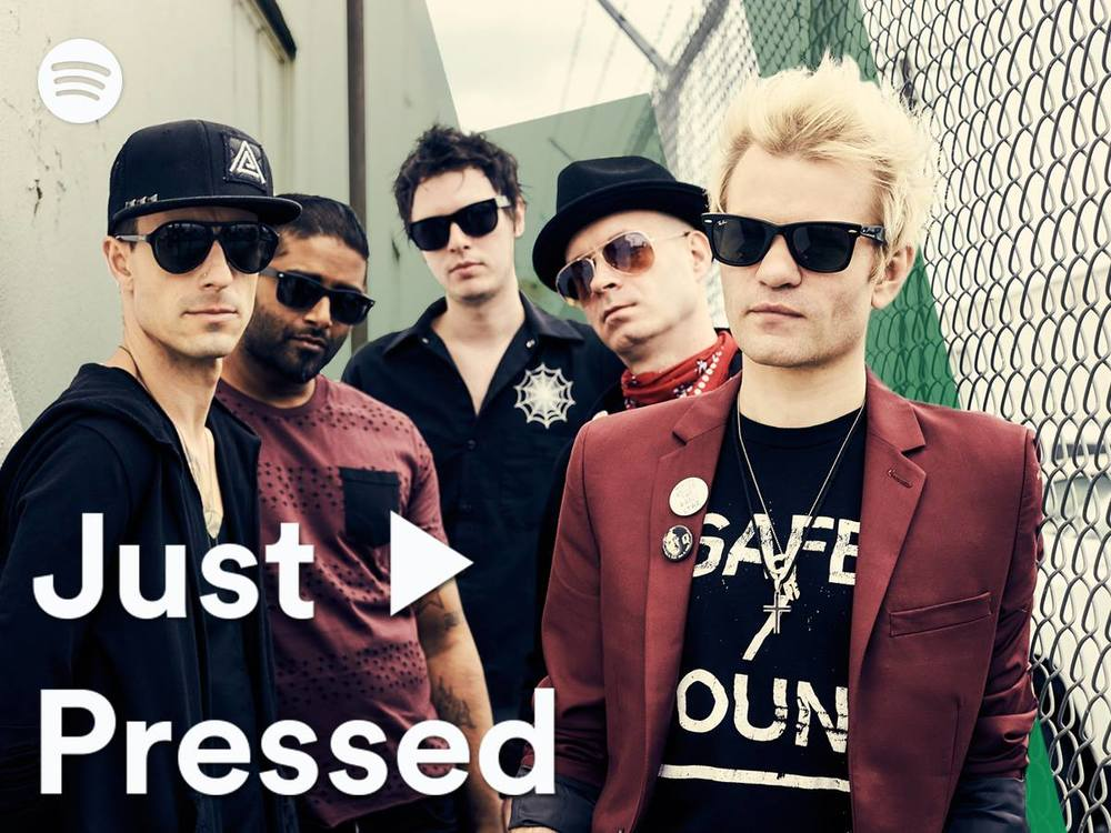 Sum 41 x Spotify Sum 41 is back with a vengeance with their newest single #‎FakeMyOwnDeath. #‎JustPressed