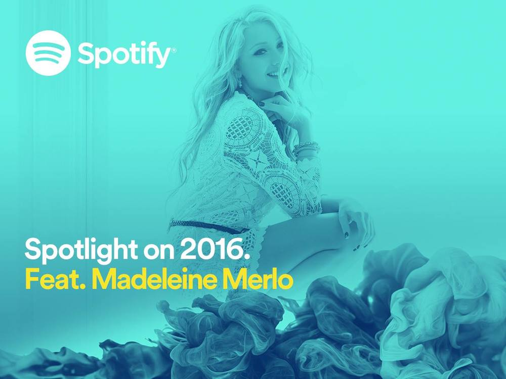 Madeleine Merlo x Spotify Madeline Merlo wears it all like #‎WarPaint, with her new single in the #‎Spotlight