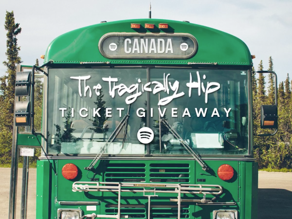 The Tragically Hip x Spotify  Click the link below for a chance to win tickets to the  #‎ManMachinePoem  tour in Toronto.