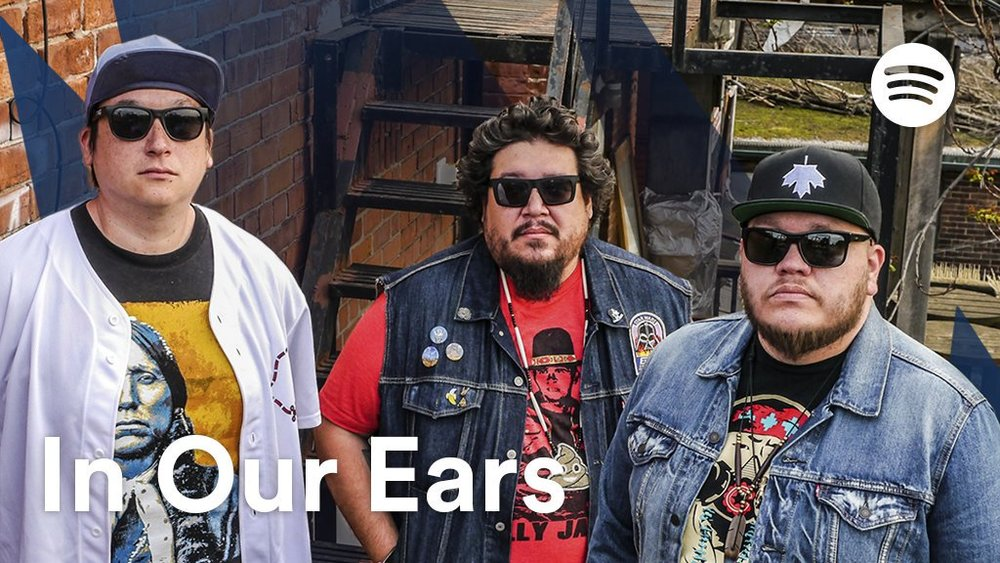 A Tribe Called Red x Spotify (Twitter)   @atribecalledred  has a wonderfully eclectic sense of musical style. Listen to  #InOurEars