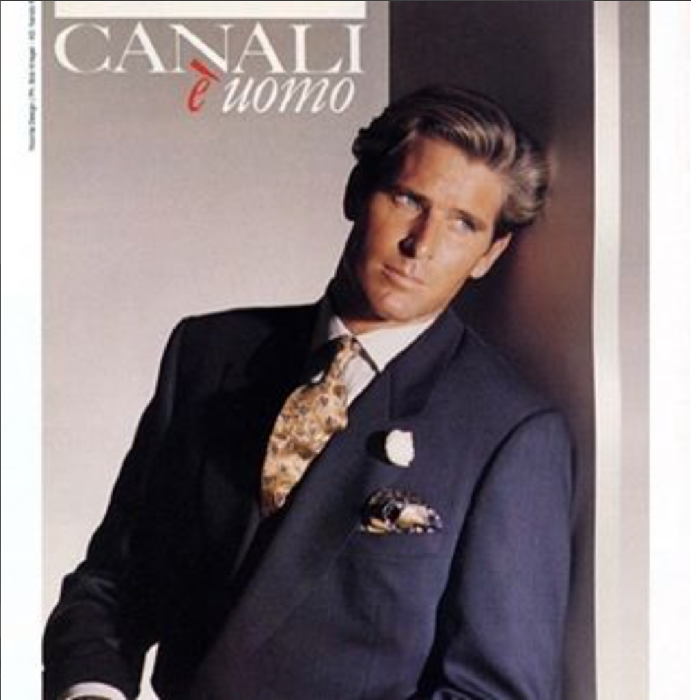 Throwback Thursday   #TBT The mark of a man lies in the make of his suit. And he can never go wrong with a @canali1934 design. Even one made in the 90's. #timeless