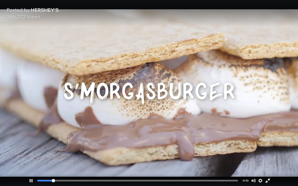Hershey's S'mores x No Campfire Required Facebook Campaign   This s'morgasburger is s'maybe the most delicious s'meal ever. We should do this s'more often.  #‎nocampfirerequired