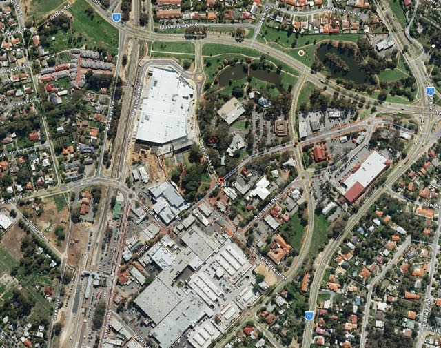 Armadale retail area - courtesy Google Earth.