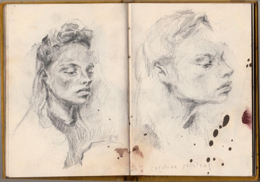 'Caroline Painting' - Autumn 1985