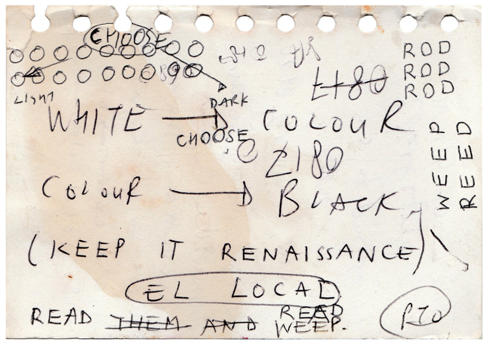 A Page from one of Jon's spiral bound notebooks - 2004