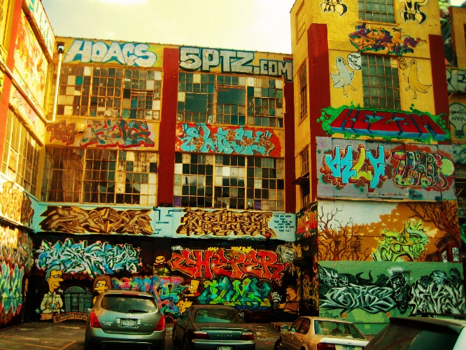 Long live 5 Pointz, New York also known as the Aerosol Art Center or Institute of Higher Burnin.  Photo by Rex Moribe circa 2008 East Coast Boogie Tour.