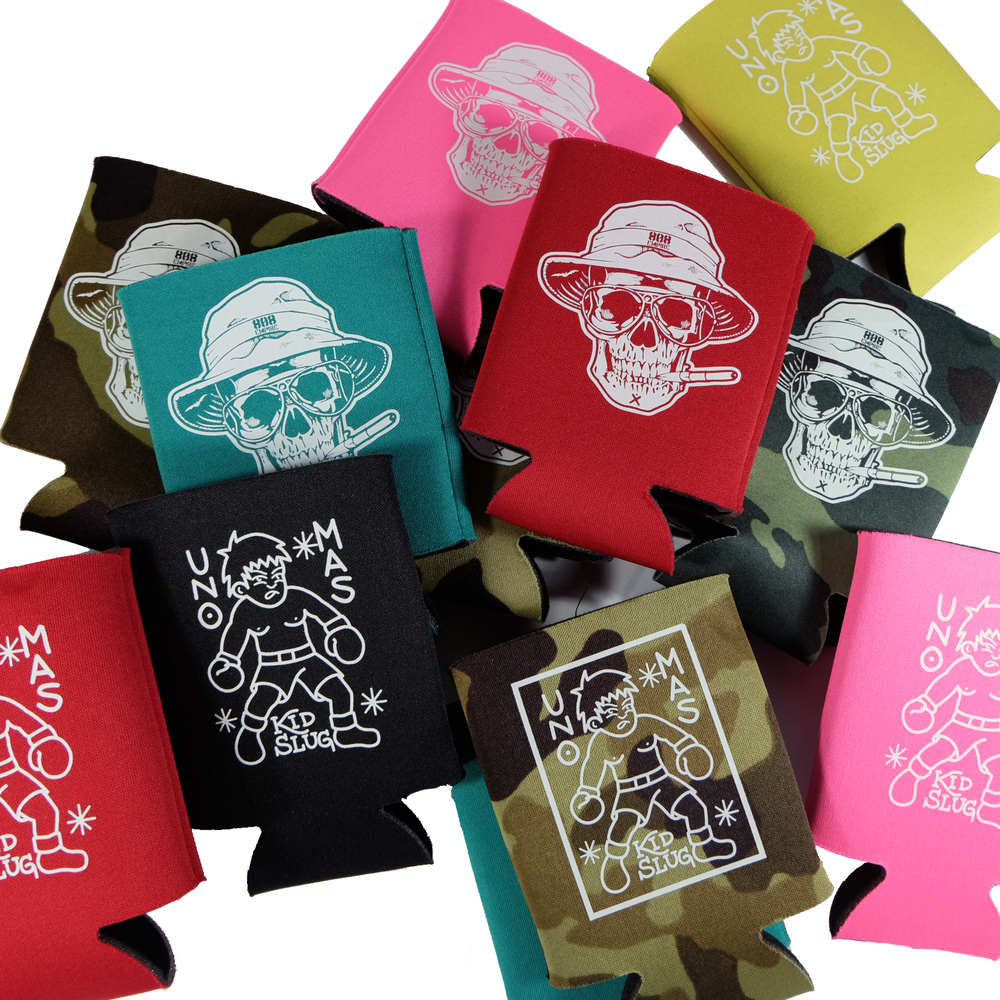 Limted edition koozies now for sale at select retailers and online http://liquidshelter.com/collections/808-empire/koozies