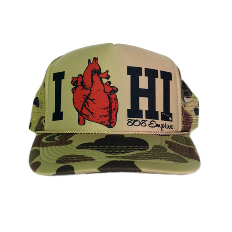 """HI Love"" Trucker                $18.00"