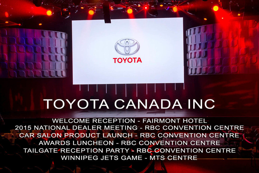 Toyota Canada National Product Launch